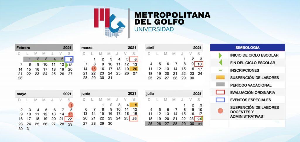 Calendario escolar 2021 Metro